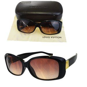 LOUIS VUITTON Sunglasses Eye Wear Plastic Brown